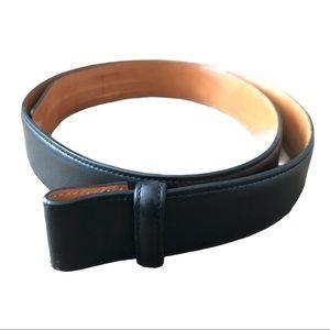 Trafalgar Black Cortina Genuine Leather Belt Strap